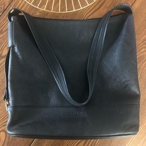 Furla Black Leather Shoulder Bag